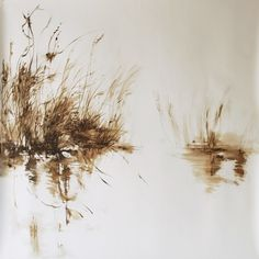By Claire Basler Plant Drawing, French Artists, Watercolor Landscape, Pyrography, Art Oil, Sculpture Art, Claire, Images, Abstract
