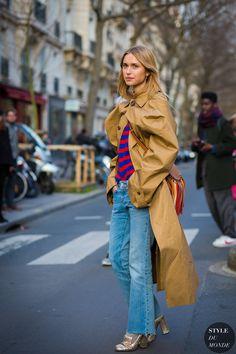 Paris Fashion Week FW 2016 Street Style: Pernille Teisbaek