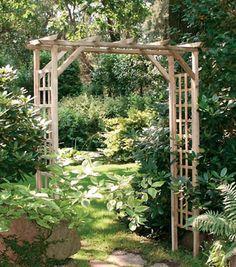 Garten Ideen Gartengestaltung Pergola Holz Rosenbogen Gartenzaun ... Pergola Im Garten Ideen Gartengestaltung