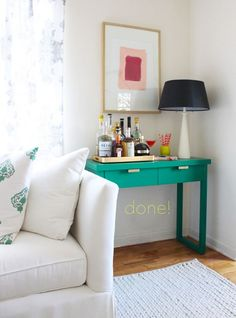 Console. Living room ideas. coco kelley sherwin williams painted console DIY_2.