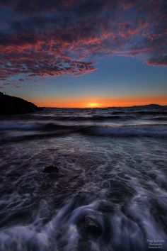 Sunset Motion by Pius Sullivan on Sea Photography, Surrealism Photography, Cool Photos, Beautiful Pictures, Amazing Photos, Photo Composition, Sunset Lover, Sunrise, Scenery