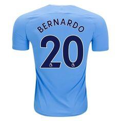 Nike Bernardo Silva Manchester City Authentic Home Jersey 17/18