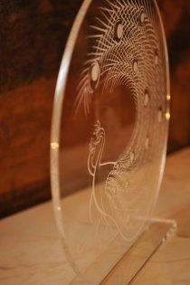 unique wedding design detail: couture laser-engraved illustrated sculpture {by Astrid Mueller Exclusive}
