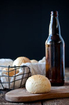 Homemade Beer Burger Buns