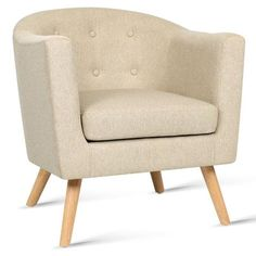 Fabric Dining Armchair Beige – Newstart Furniture Australia - Afterpay, Oxipay and Zippay Available.