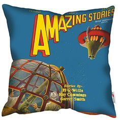 HG Wells Cushion - www.thefunkycushionstore.co.uk
