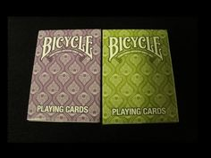 Bicycle Peacock Deck Review. #playingcards #Poker #games #Magic