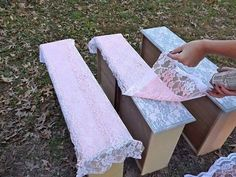 DIY lace decal design pain refurbish old furniture or walls anything with old lace!