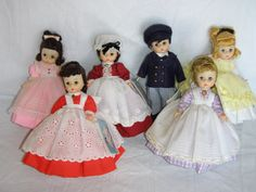 "8 inch ""Little Women"" Collection of Madame Alexander Dolls"
