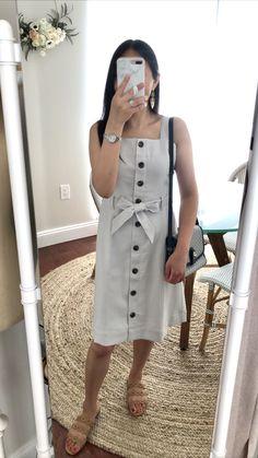 Ann Taylor Square Neck Button Dress, size 0P
