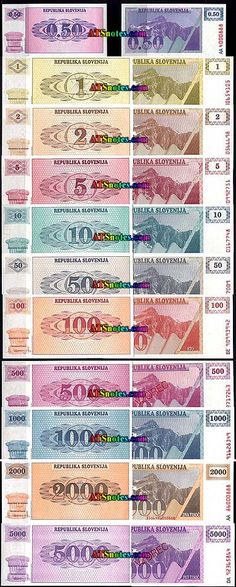 slovinia currency | ... - Slovenia paper money catalog and Slovenian currency history