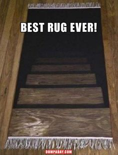 Can you imagine how many people would avoid this or trip and fall and totally freak out?
