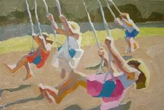 Swings, by Peggi Kroll Roberts. Peggi shares how she made sure she had time to paint while raising 3 kids:  http://savvypainter.com/podcast/peggi-kroll-roberts/