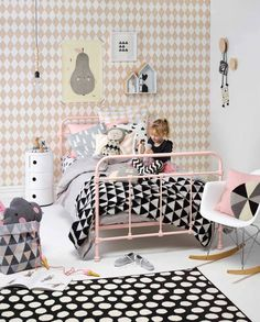 Papel rombos Harlequin rosa | telas & papel