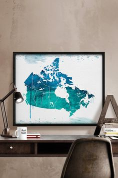 Trademark fine art greece watercolor map by michael tompsett wood canada watercolor map art print map of canada by iprintposter gumiabroncs Image collections