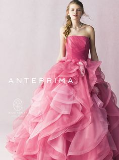 My raspberry dream ❤ Big Dresses, Pretty Dresses, Beautiful Dresses, Colored Wedding Dresses, Bridal Dresses, Fairytale Dress, Pink Gowns, Pink Dress, Engagement Dresses