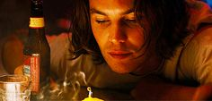 """When he eyed this candle. 