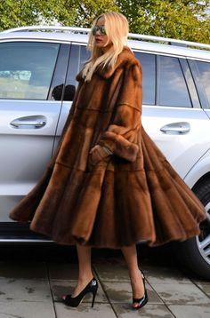 ITALIAN LONG SWINGER ROYAL SAGA MINK FUR COAT VISONE LIKE JACKET FOX SABLE LYNX #ROYALSAGAMINK #OtherCoats