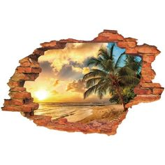 5.2$  Buy here - http://diti9.justgood.pw/go.php?t=167384401 - Cool Sunset Design 3D Wall Sticker For Home Decor 5.2$