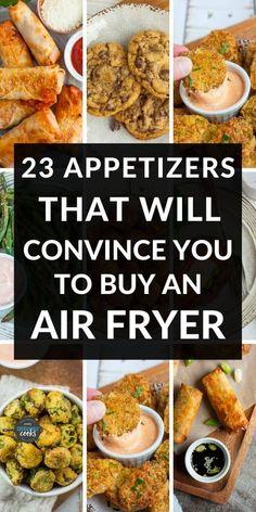 Air Fryer Recipes Dessert, Air Fryer Oven Recipes, Air Frier Recipes, Appetizer Recipes, Appetizers, Cooks Air Fryer, Air Fried Food, Air Fryer Healthy, Cooking Recipes