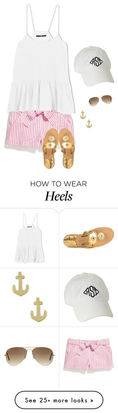 """""""{you and me, baby we're stuck like glue}"""" by ponyboysgirlfriend on Polyvore featuring TIBI, Jack Rogers, Jewel Exclusive, Ray-Ban, women's clothing, women, female, woman, misses and juniors"""