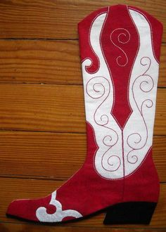 (9) Name: 'Sewing : 2014 Cowboy Boot Christmas Stocking