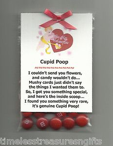 New Homemade Cupid Poop Valentines Day Candy Novelty Gag Gift w M M's Favor