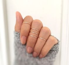 Rose gold knuckle ring set of 5,midi rings,delicate rings,ring set,rose gold rings,rose gold midi rings,minimalist ring,hammered midi