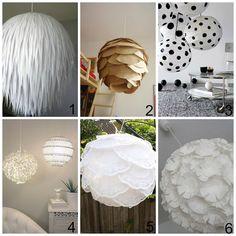 donneinpink magazine: Come decorare i lampadari di carta dell'Ikea