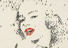 People art Marilyn Monroe - Craig Alan paints portraits of famous people made up of tiny figures and their shadows - giving the appearance of looking down from high above Famous Portraits, Celebrity Portraits, Pixel Art, Art Des Gens, Arte Banksy, Marilyn Monroe Portrait, Marylin Monroe, Using People, Creation Art