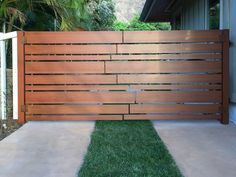 Gallery of Knotwood Gates - 4 - Modern Design Wood Fence Design, Front Gate Design, Main Gate Design, House Gate Design, Door Gate Design, Modern Wood Fence, Wood Fence Gates, Fencing, Front Gates