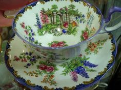 Cup and saucer.