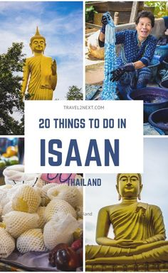 20 Things To Do In Isaan including visiting Chiang Khiang and Udon Thani, where an amazing temple is located in the Wang Nakhon area at a lake where it's believed the Naga Lord Sisotho – a large mythical snake lives. Thailand Travel, Asia Travel, Udon Thani, Stuff To Do, Things To Do, Diy Crafts For Home Decor, Prague Travel, Vientiane, Northern Thailand