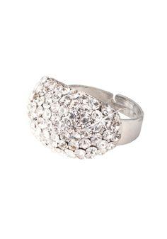 Ook deze ring met Strass stenen is verkrijgbaar in verschillende kleuren!