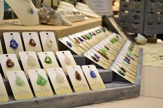steps with a lip to display jewelry cards.