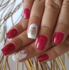 56 ideas nails acrylic colour winter for 2019 Shellac Nail Colors, Gel Nails, Nail Polish, Christmas Nail Designs, Christmas Nail Art, Xmas Nails, Holiday Nails, Beautiful Nail Art, Gorgeous Nails