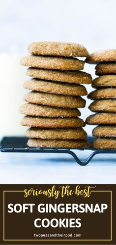 This recipe for classic Soft Gingersnap Cookies is the best! You are sure to get rave reviews for these perfectly spiced treats. Filled with ginger, cinnamon, and molasses, this dessert is a holiday favorite! Add this to your Christmas in July baking list now! Easy No Bake Desserts, Easy Cookie Recipes, Dessert Recipes, Simple Recipes, Recipes Dinner, Brunch Recipes, Yummy Recipes, Christmas Cookies Kids, Christmas Baking