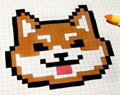 Graph Paper Drawings, Graph Paper Art, Pixel Pattern, Pattern Art, Image Pixel Art, Easy Pixel Art, Modele Pixel Art, Pixel Drawing, Cross Stitch Quotes