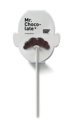 If It's Hip, It's Here: Chocolate Moustaches On A Stick. Mr. Chocolate Is A Sweet Combination of Great Product, Great Packaging and Great Photographs.