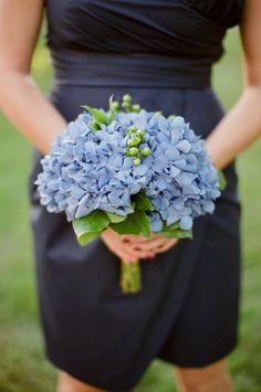 Blue hydrangea bouquets: http://www.stylemepretty.com/collection/2259/
