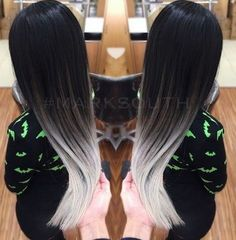Black blond ombre