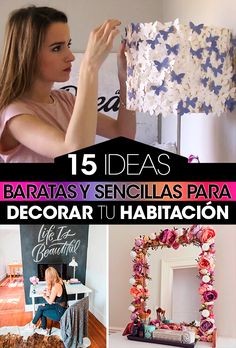 15 Ideas baratas y sensillas para decorar tu habitación. 15 Cheap and simple ideas to decorate your room. Girls room Fourth decorated. Teen Room Decor, Room Decor Bedroom, Diy Room Decor, Rustic Entryway, Diy Crafts To Do, Ideas Baratas, Room Ideas, Decor Ideas, Decorate Your Room