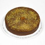 Mousse de Chocolate com Nozes Diet feito com: Fina fatia de bolo de chocolate sob levíssima mousse de chocolate. Decorado com nozes picadas.