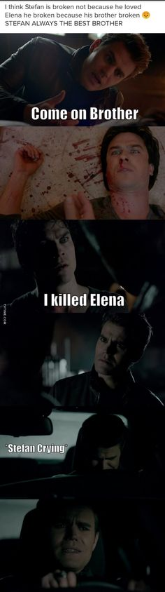 hmm..no offence stefan lovers but DAMON IS THE BEST BROTHER #thispiniswrong