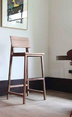 Tabouret de bar en bois de palette esprit r cup 39 bar - Chaise de bar contemporaine ...