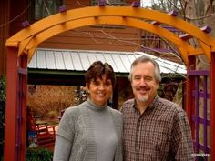 Fred and Mary Beth, your hosts and innkeepers at Cedar House Inn and Yurts. May not be famous yet but offer a unique b and b experience.