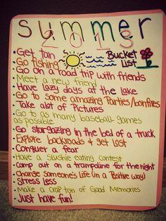 My summer Bucket list <3