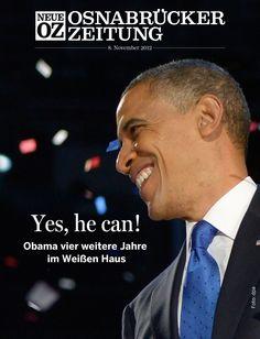 Vier weitere Jahre: Barack #Obama hat die Präsidentschaftswahl in den USA gewonnen. Wir berichten umfangreich in unserer iPad-Ausgabe vom 8. November.