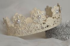 Crown for Maternity/Newborn photos Off White with Pearl accents by SimplyCharleneProps, $10.00