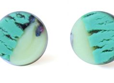 Glow in the dark stud earrings, fine art for fine ears! Check out these light weight clay posts with an all unique  approach to color & design that lasts!